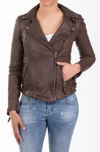 Lederjacke tobacco Slim Fit